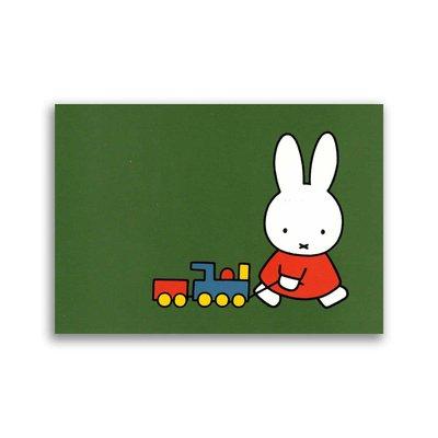 Bekking & Blitz Nijntje met een treintje ansichtkaart