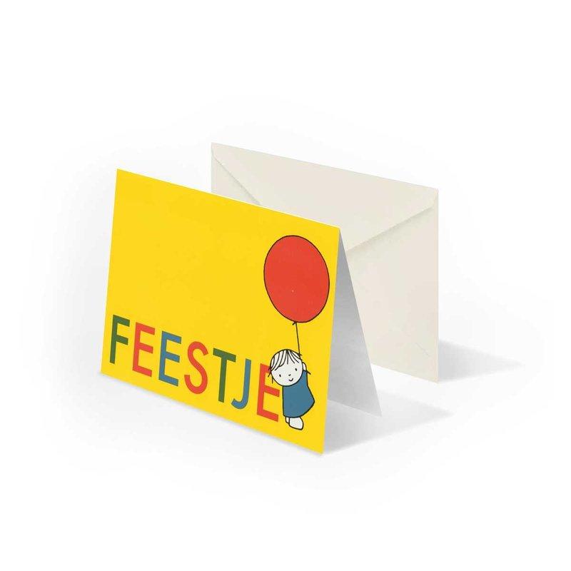 Bekking & Blitz 'Feestje' - Dick Bruna -  gevouwen ansichtkaart