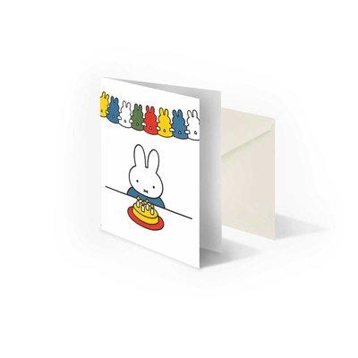 Bekking & Blitz 'Nijntje met taart' gevouwen ansichtkaart