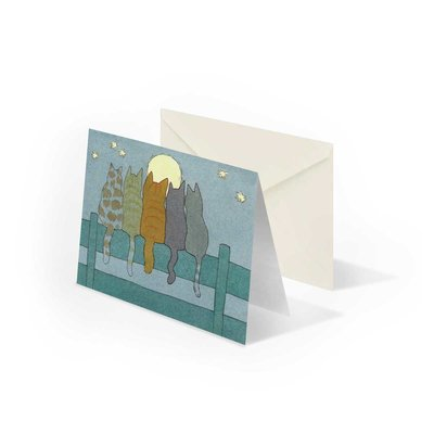 Bekking & Blitz Dikkie Dik 'Katten bij maanlicht' gevouwen ansichtkaart