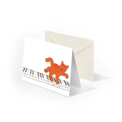 Bekking & Blitz Dikkie Dik 'Piano' gevouwen ansichtkaart