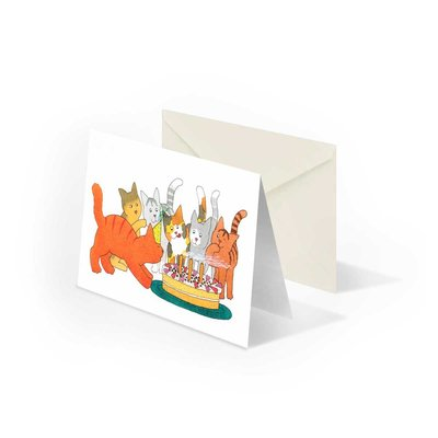 Bekking & Blitz Dikkie Dik 'Verjaardag' gevouwen ansichtkaart