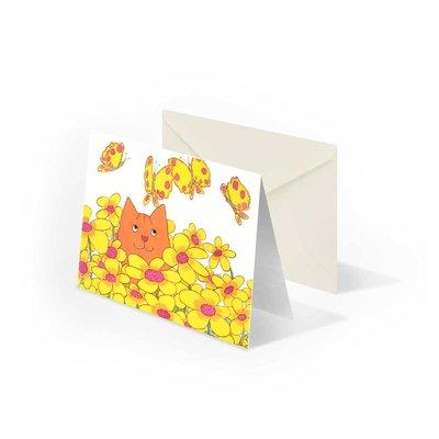 Bekking & Blitz Dikkie Dik 'Bloemen' gevouwen ansichtkaart