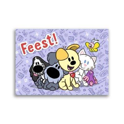 Dromenjager Woezel en Pip ansichtkaart 'Feest!'