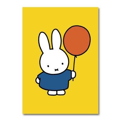 Nijntje Nijntje - A4 verjaardagskaart XXL - Nijntje met ballon