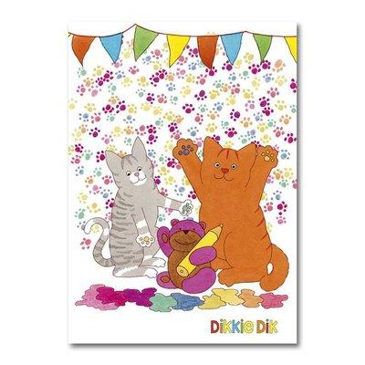 Dikkie Dik Dikkie Dik - A4 verjaardagskaart XXL  - 'Feestje'