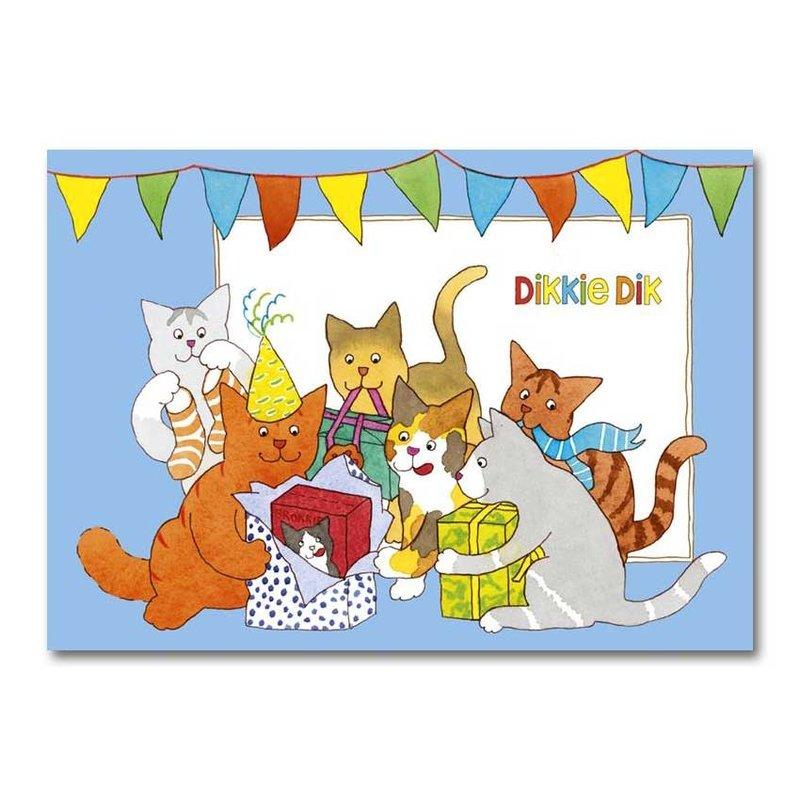 Dikkie Dik Dikkie Dik - A4 verjaardagskaart XXL  - 'Kado's'