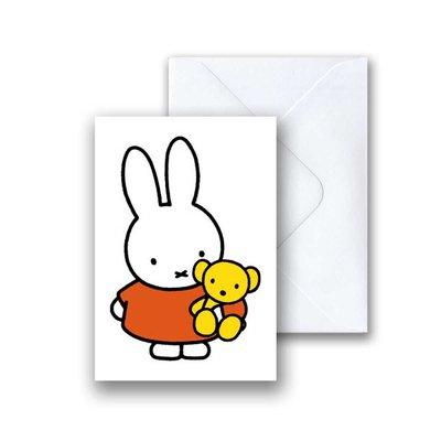 Nijntje Nijntje met beer mini-ansichtkaart met envelop