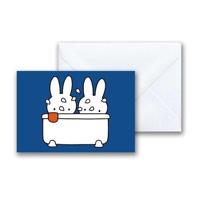 Nijntje Nijntje in bad mini-ansichtkaart met envelop