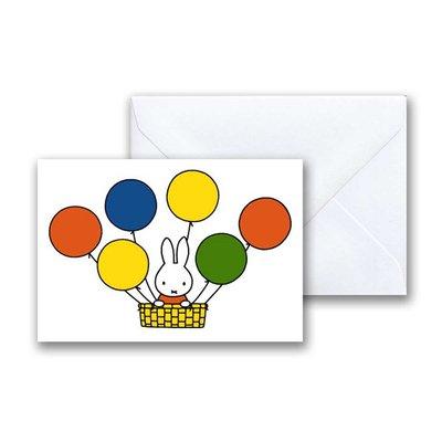 Nijntje Nijntje in luchtballon mini-ansichtkaart met envelop