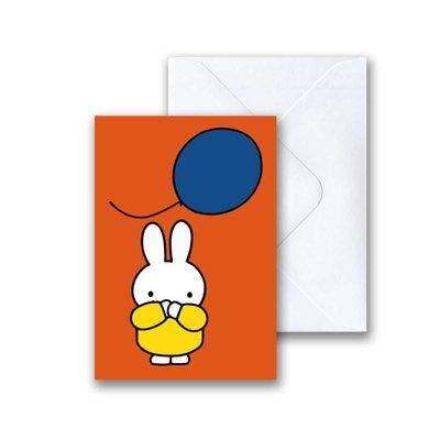 Nijntje Nijntje met ballon mini-ansichtkaart met envelop