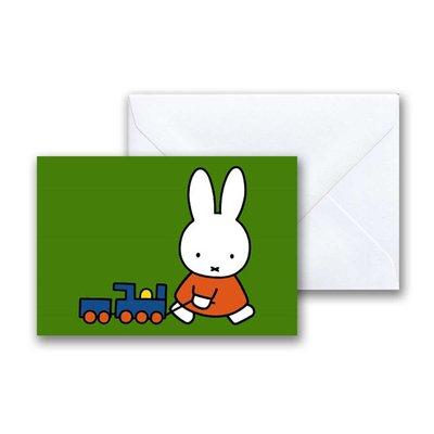 Nijntje Nijntje met treintje mini-ansichtkaart met envelop