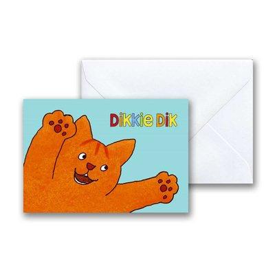 Dikkie Dik Dikkie Dik is blij mini-ansichtkaart met envelop