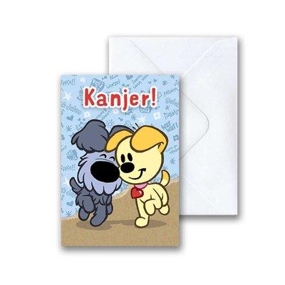 Woezel en Pip Woezel en Pip 'Kanjer' -  mini-ansichtkaart met envelop