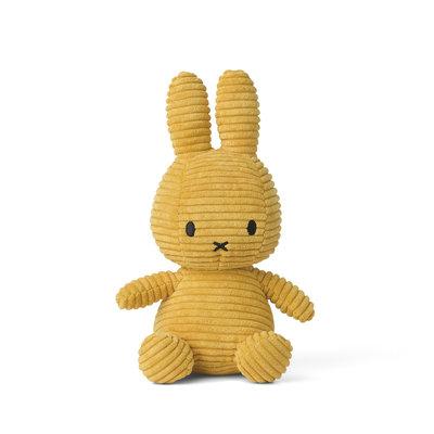 Nijntje Nijntje knuffel - geel, ribstof - 23 cm