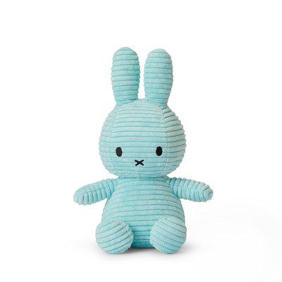 Nijntje Nijntje knuffel - turquoise, ribstof - 23 cm