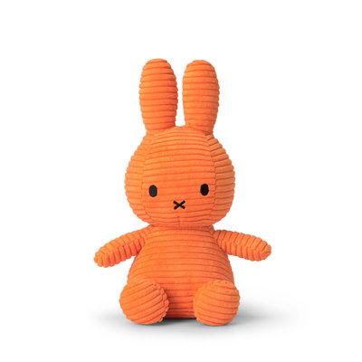 Nijntje Nijntje knuffel - oranje, ribstof - 23 cm