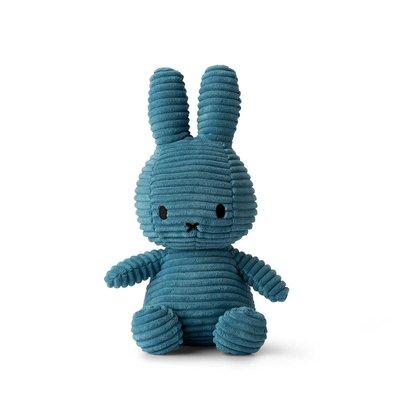 Nijntje Nijntje knuffel - blauw, ribstof - 23 cm