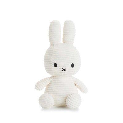 Nijntje Nijntje knuffel - wit, ribstof - 23 cm
