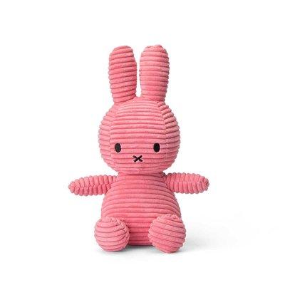 Nijntje Nijntje knuffel - roze, ribstof - 23 cm