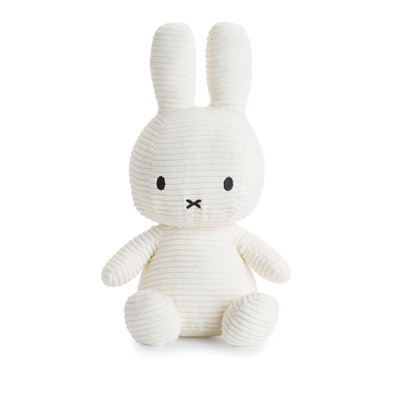 Nijntje Nijntje knuffel - wit, ribstof - 50 cm