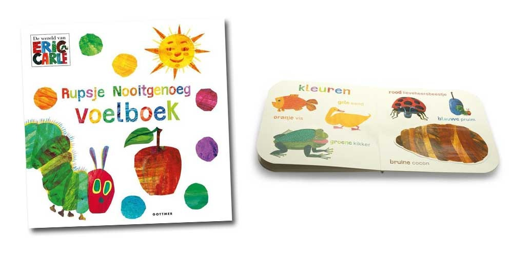 kinderboek top 10 tien rupsje nooitgenoeg voelboek eric carle