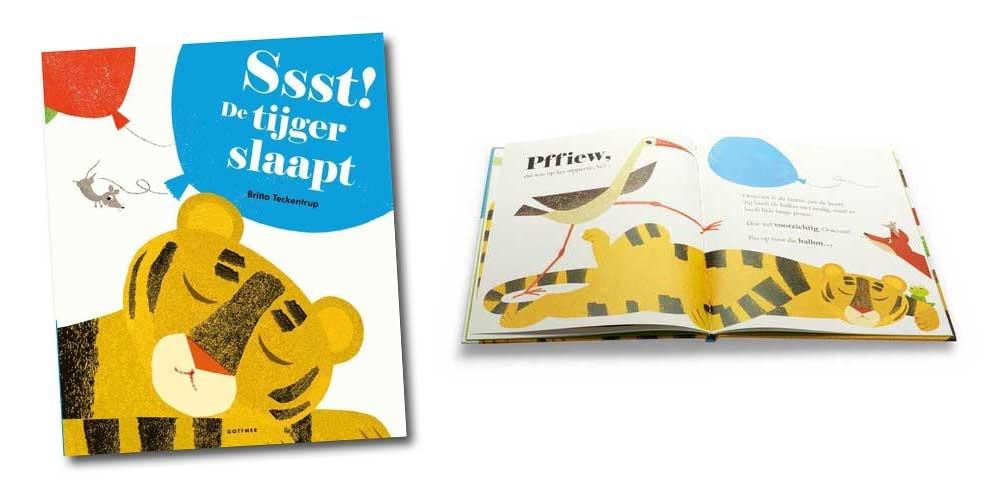 top 10 kinderboeken ssst de tijger slaapt britta teckentrup