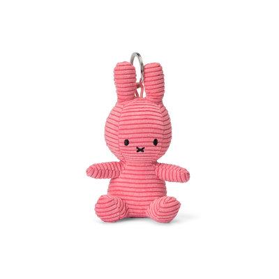 Nijntje Nijntje knuffel sleutelhanger- roze, ribstof - 10 cm