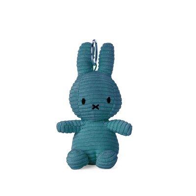 Nijntje Nijntje knuffel sleutelhanger- blauw, ribstof - 10 cm