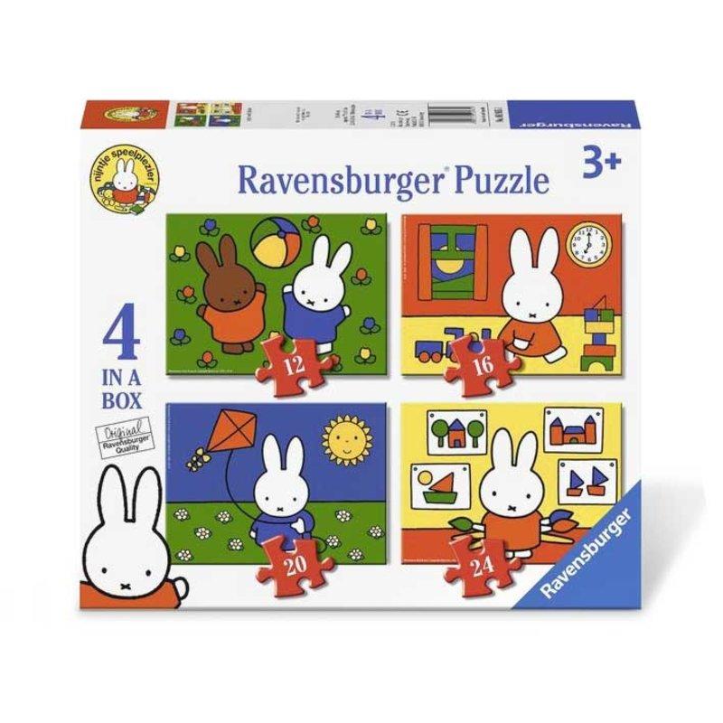 Ravensburger Nijntje 4-in-1 puzzel - 12+16+20+24 stukjes