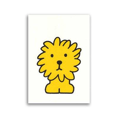Bekking & Blitz Dick Bruna ansichtkaart - leeuw