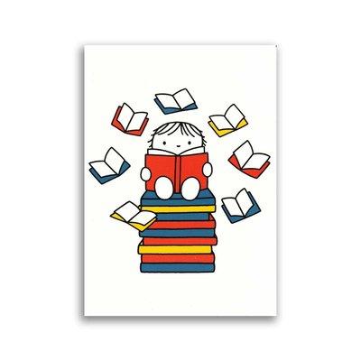 Bekking & Blitz Dick Bruna ansichtkaart - lezen / boeken