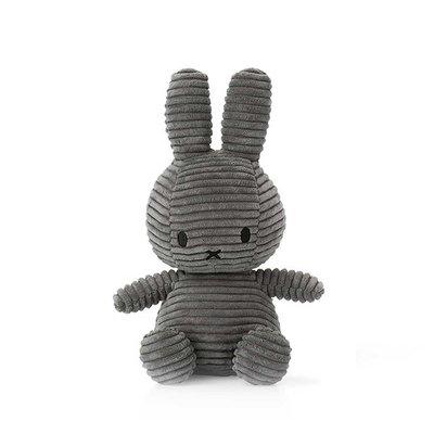 Nijntje Nijntje knuffel - grijs, ribstof - 23 cm