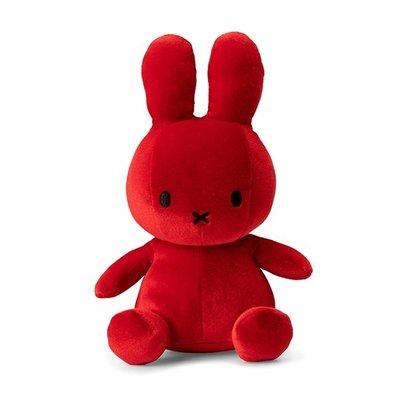 Nijntje Nijntje knuffel - rood, velvet - 23 cm