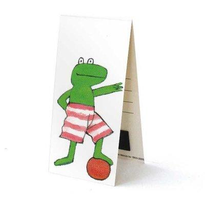 Bekking & Blitz Kikker boekenlegger - Kikker met zijn bal