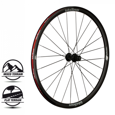 Vision Vision Wheelset Team 30 Comp Grey Clincher Shimano