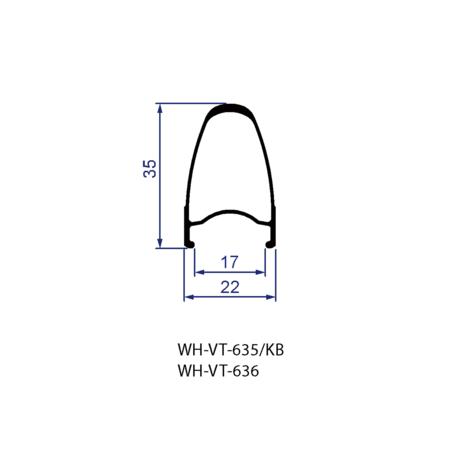 Vision Vision Wheelset Trimax 35 Aluminum Grey Shimano