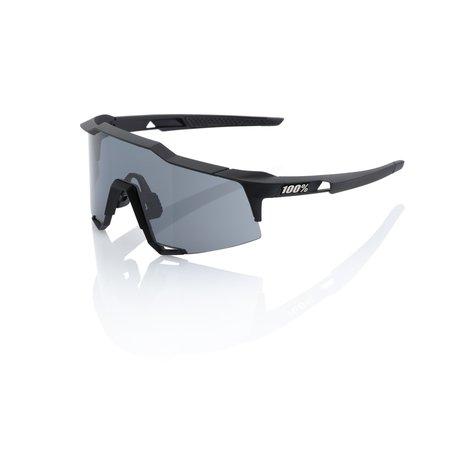 100% 100% Speedcraft - Soft Tact Zwart- Smoke Lens