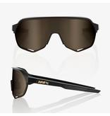 100% 100% S2 - Matte Black - Flash Gold Lens