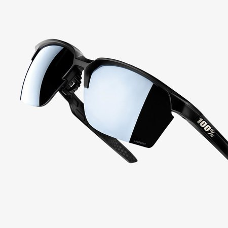 100% 100% SPORTCOUPE® Matte Black HiPER® Silver Mirror Lens + Clear Lens Included