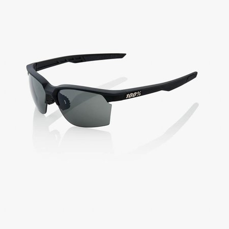 100% 100%  SPORTCOUPE® Soft Tact Black Smoke Lens + Clear Lens Included