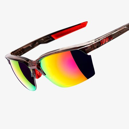 100% 100% SPORTCOUPE® Polished Translucent Crystal Smoke Purple Multilayer Mirror Lens + Clear Lens Included