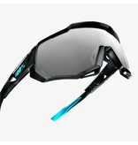 100% 100% SPEEDTRAP® - Polished Black Graphic - Black Mirror Lens + Clear Lens Included