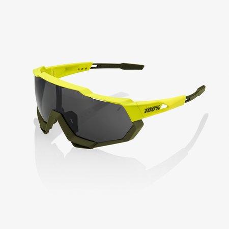 100% 100% Speedtrap - Soft Tact Banana - Zwarte Mirror Lens