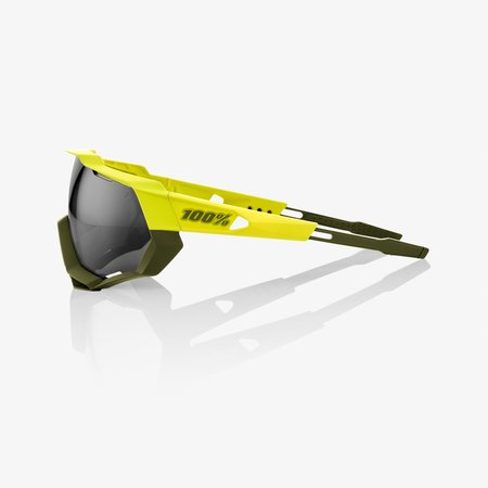 100% 100% Speedtrap - Soft Tact Banana - Black Mirror Lens