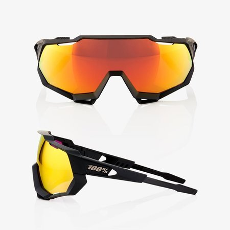 100% 100% SPEEDTRAP® Soft Tact Black HiPER® Red Multilayer Mirror Lens + Clear Lens Included