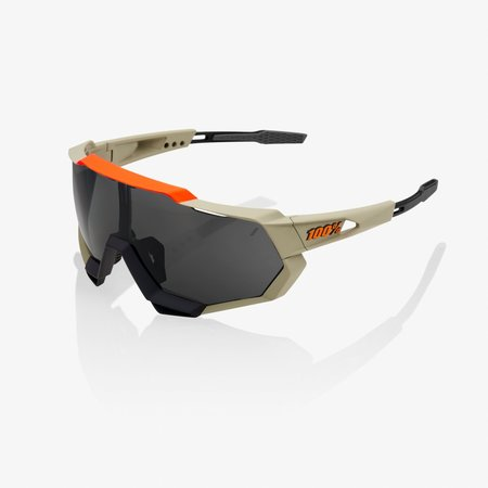 100% 100% SPEEDTRAP® Soft Tact Quicksand Smoke Lens + Clear Lens Included