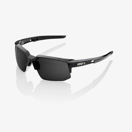 100% 100% SPEEDCOUPE® Polished Black Grey PeakPolar Lens + Clear Lens Included