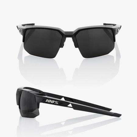 100% 100% Speedcoupe - Polished Zwart - Grijze Peakpolar Lens