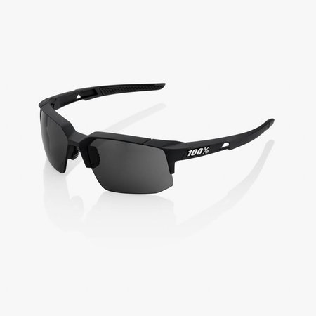 100% 100% SPEEDCOUPE® Soft Tact Black Smoke Lens + Clear Lens Included